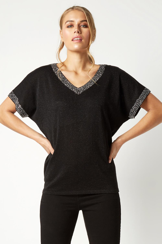Roman-Originals-Women-039-s-Embellished-Batwing-T-shirt thumbnail 14