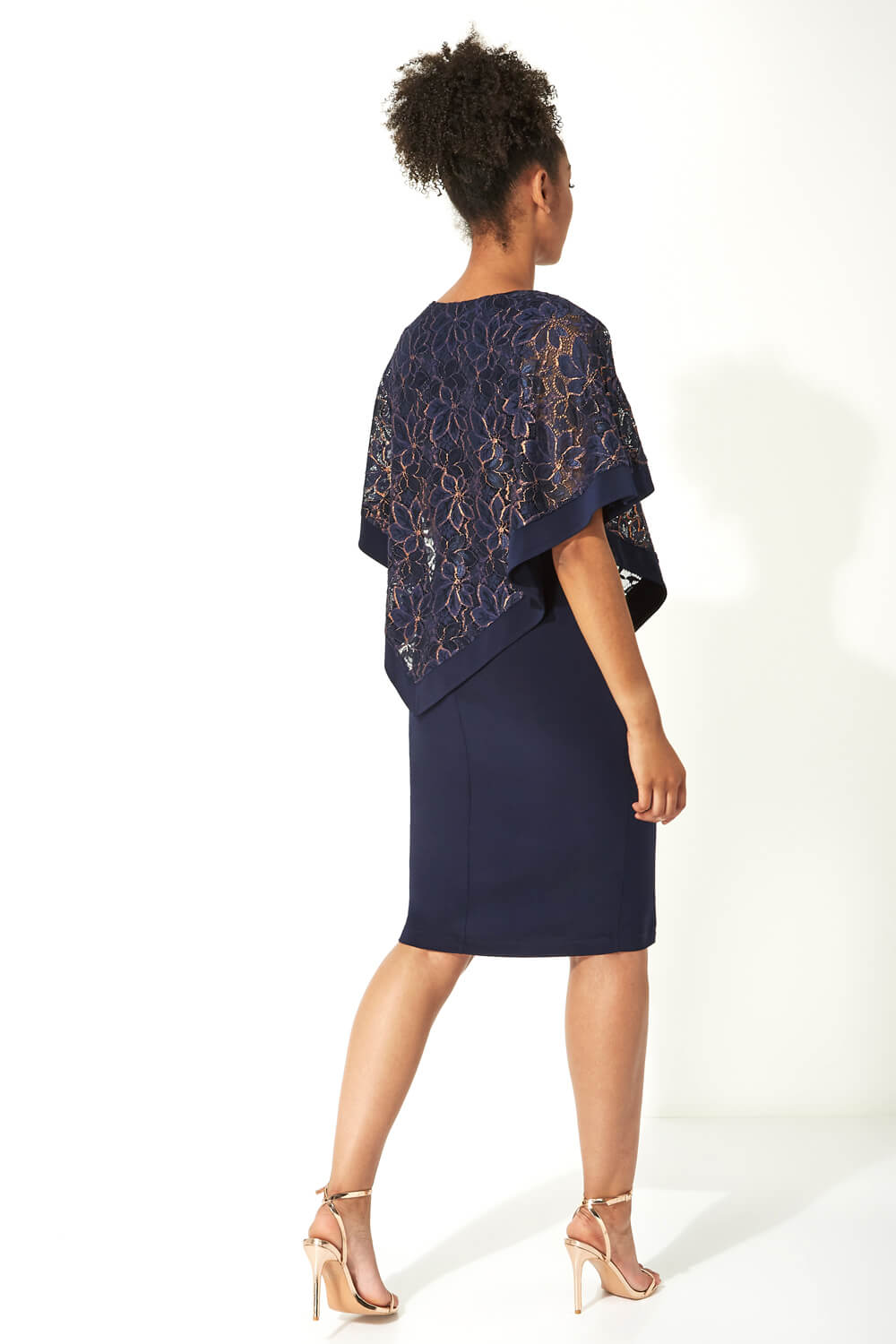 Roman-Originals-Women-039-s-Sequin-Lace-Boat-Neck-Overlay-Knee-Length-Dress thumbnail 26