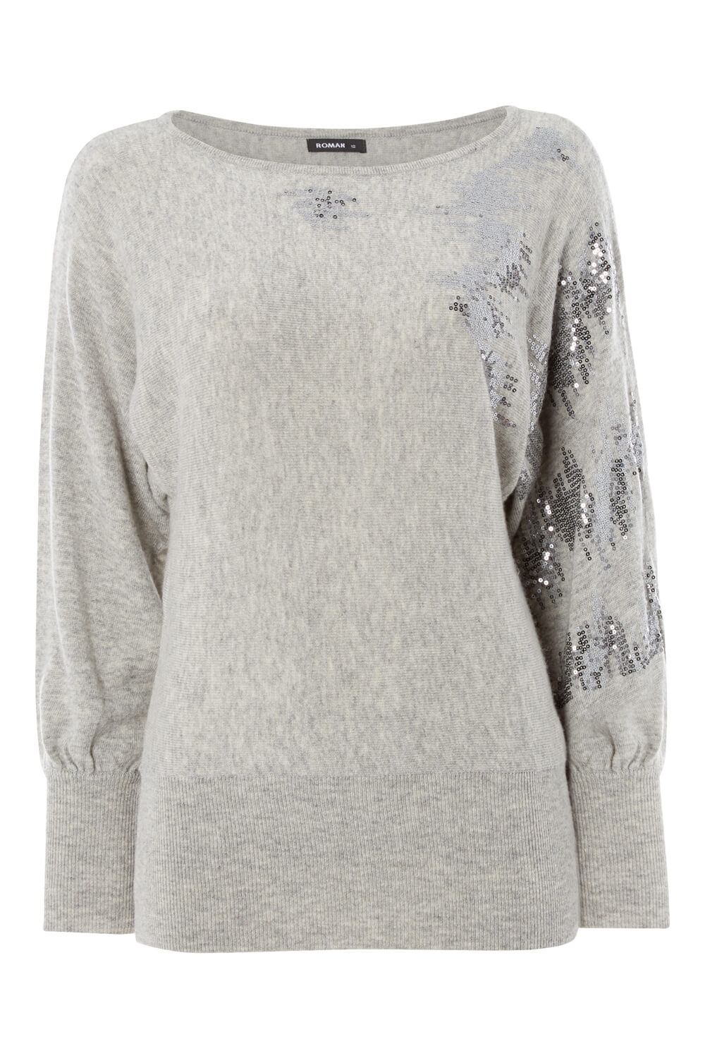 Roman-Originals-Women-039-s-Sequin-Embellished-Batwing-Sleeve-Boat-Neck-Jumper thumbnail 16