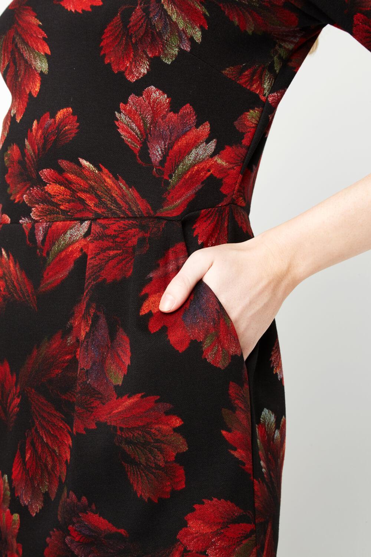 Roman-Originals-Women-Floral-Ponte-Dress thumbnail 12