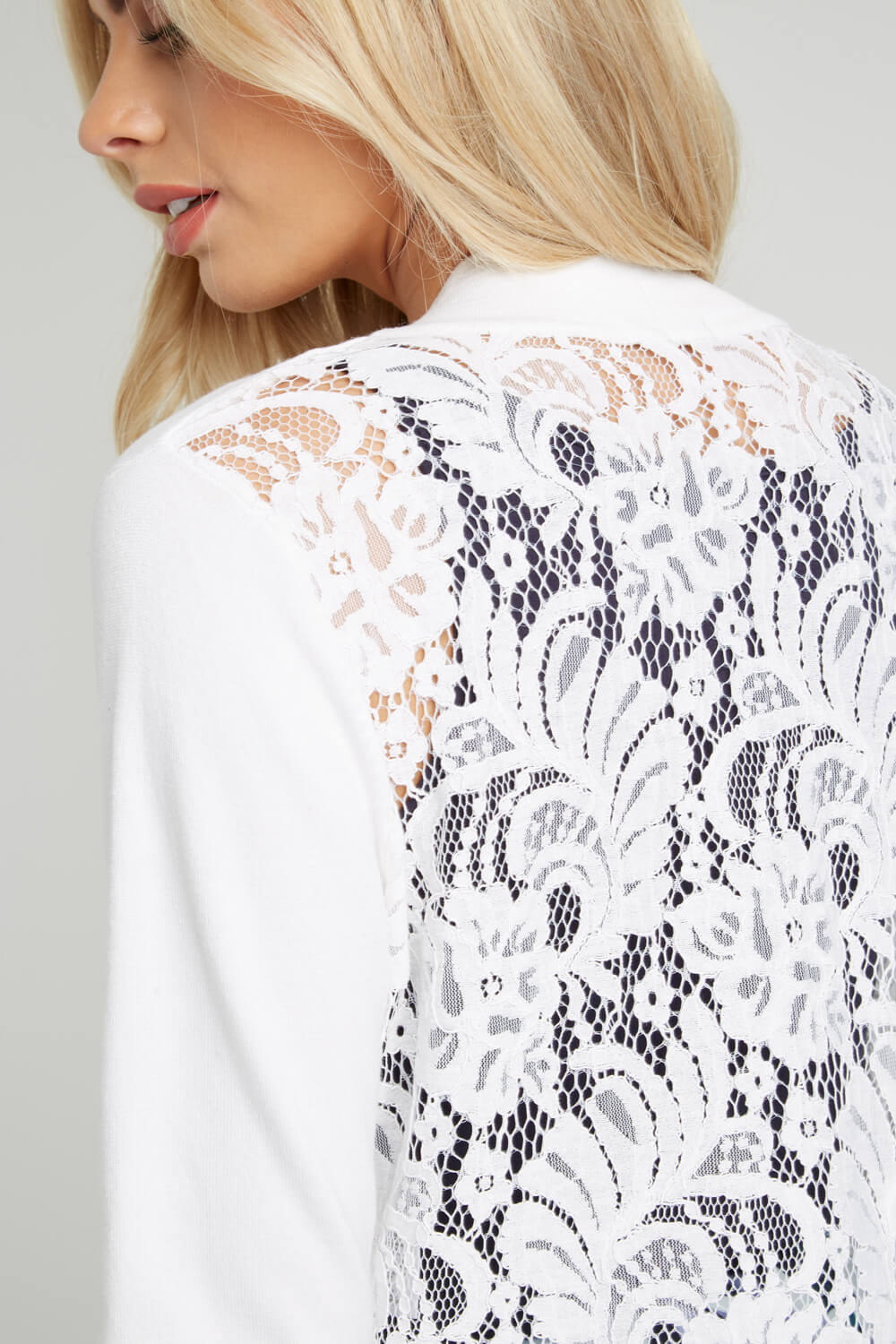 Roman-Originals-Women-039-s-White-Lace-Back-Shrug-Cardigan-Sizes-10-20 thumbnail 40