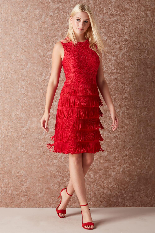 thumbnail 21 - Roman-Originals-Womens-Lace-Flapper-Tassels-Dress-in-Black-Sizes-10-20