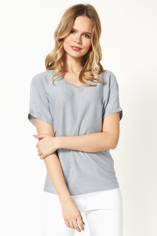 Roman-Originals-Women-039-s-Embellished-Batwing-T-shirt thumbnail 33