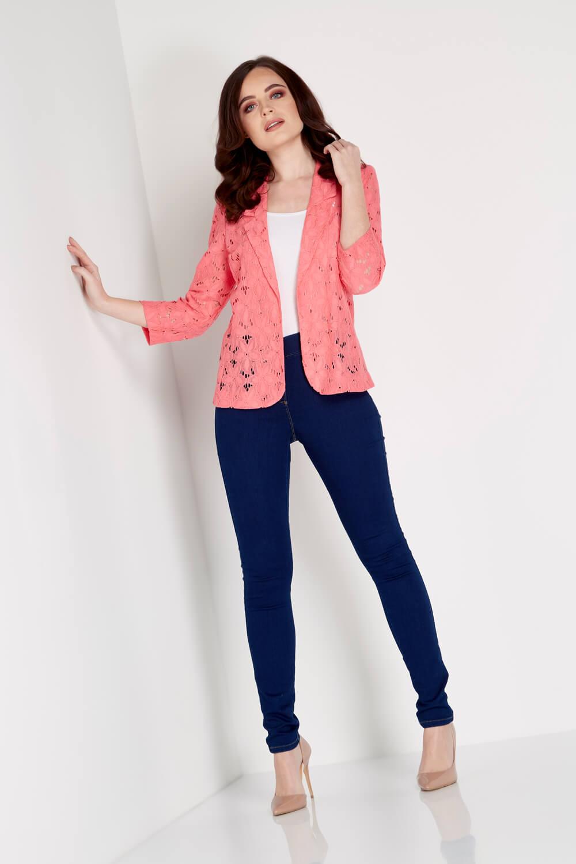 Roman-Originals-Womens-Rose-Pink-Floral-Lace-Jacket-Sizes-10-20 thumbnail 16