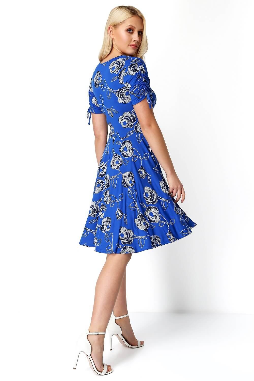 Roman-Originals-Rose-Print-Tea-Dress thumbnail 10