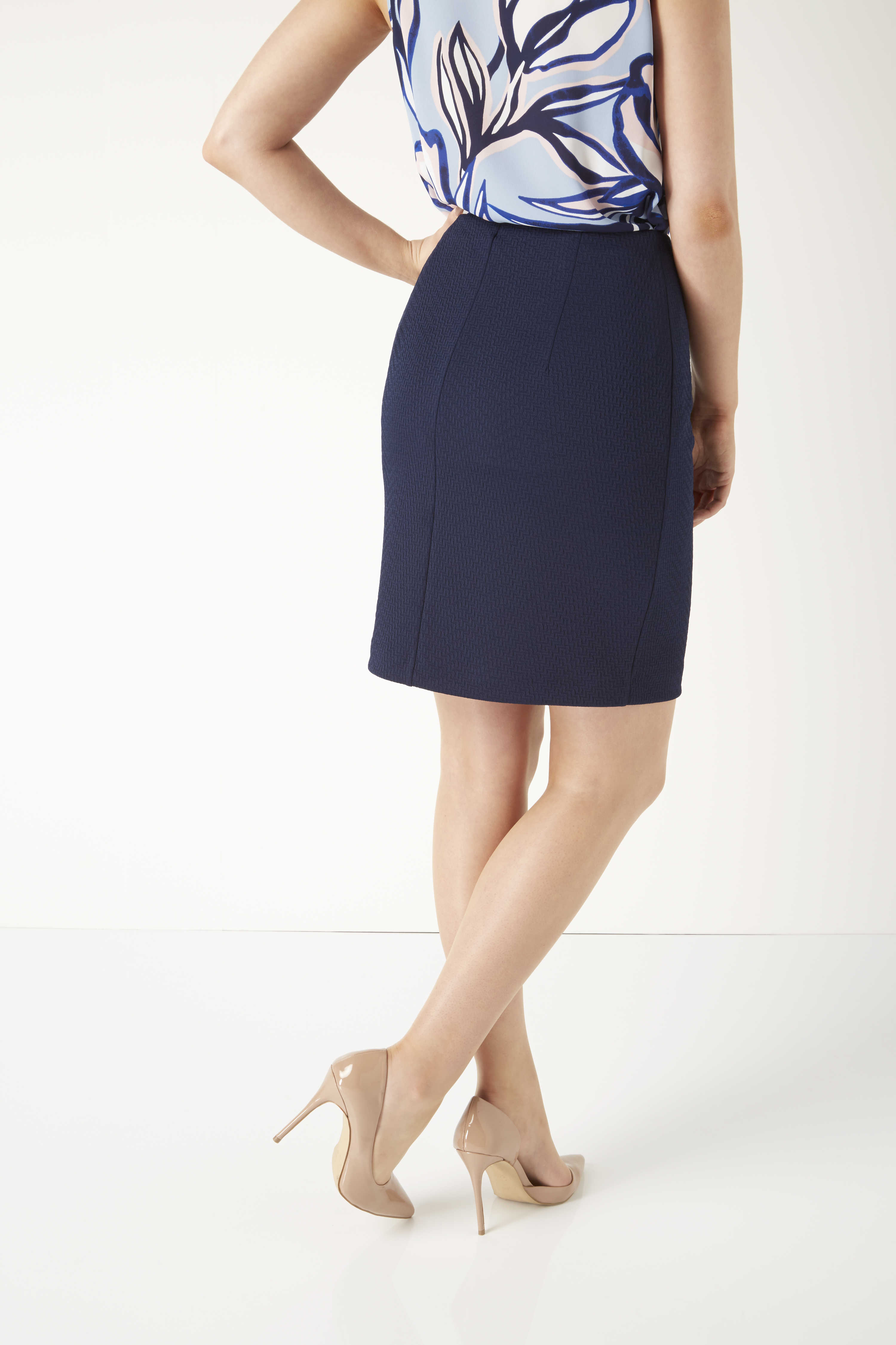 Roman-Originals-Ladies-Short-Textured-Skirt-Black