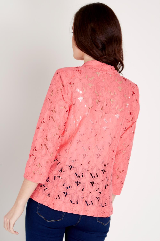 Roman-Originals-Womens-Rose-Pink-Floral-Lace-Jacket-Sizes-10-20 thumbnail 15