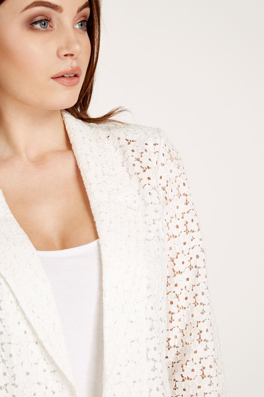 Roman-Originals-Women-039-s-Blue-Floral-Lace-Jacket-Sizes-10-20 thumbnail 29