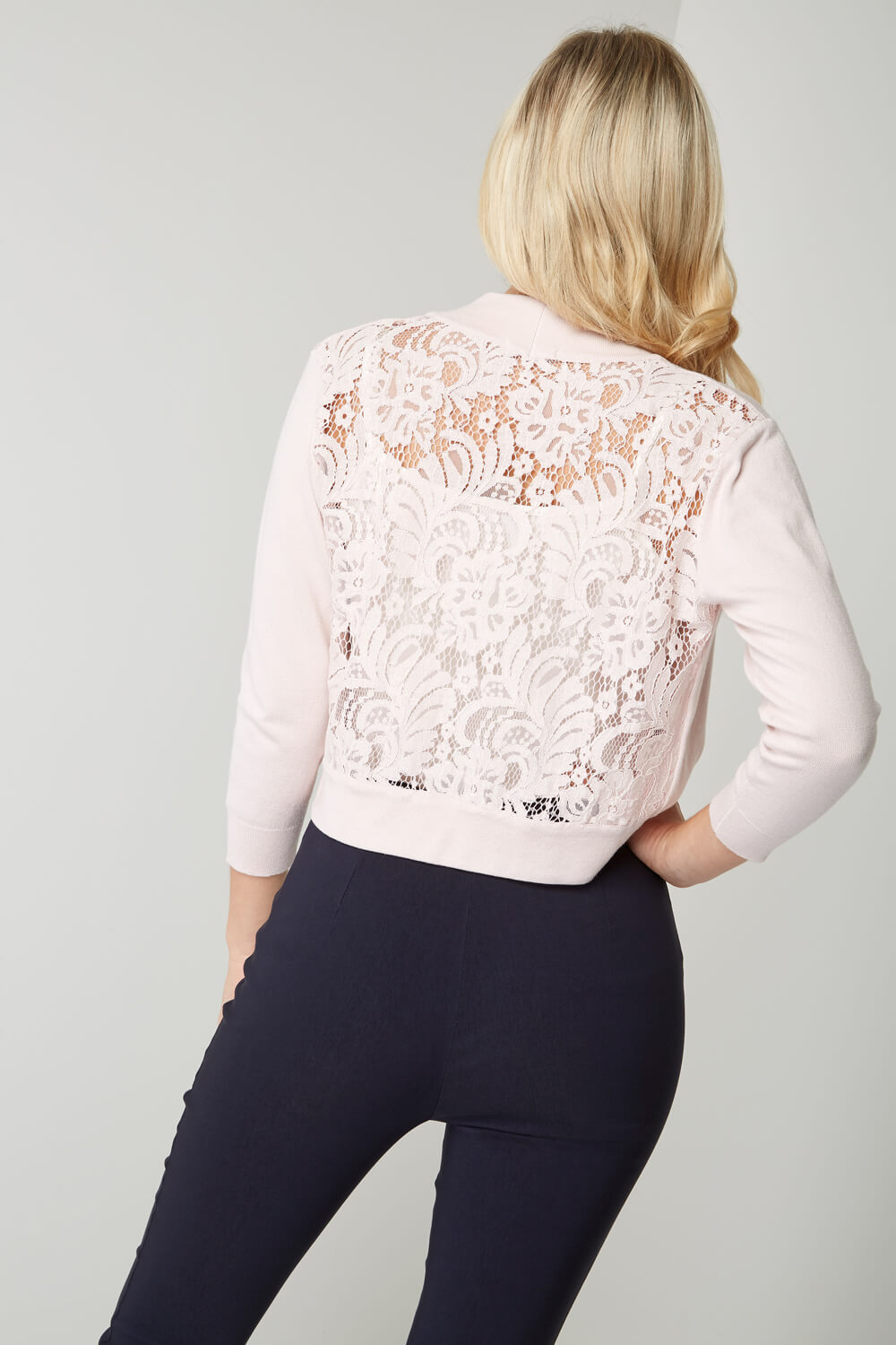 Roman-Originals-Women-039-s-White-Lace-Back-Shrug-Cardigan-Sizes-10-20 thumbnail 34