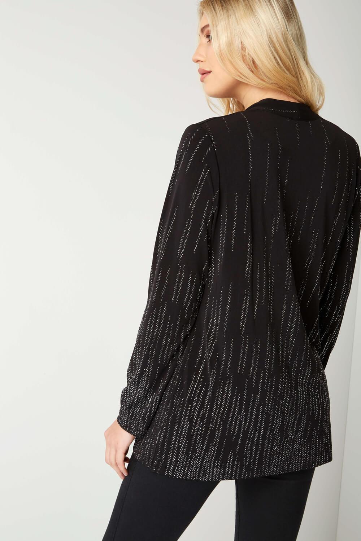 Roman-Originals-Women-039-s-Black-Glitter-Detail-Jacket-Sizes-10-20 thumbnail 7