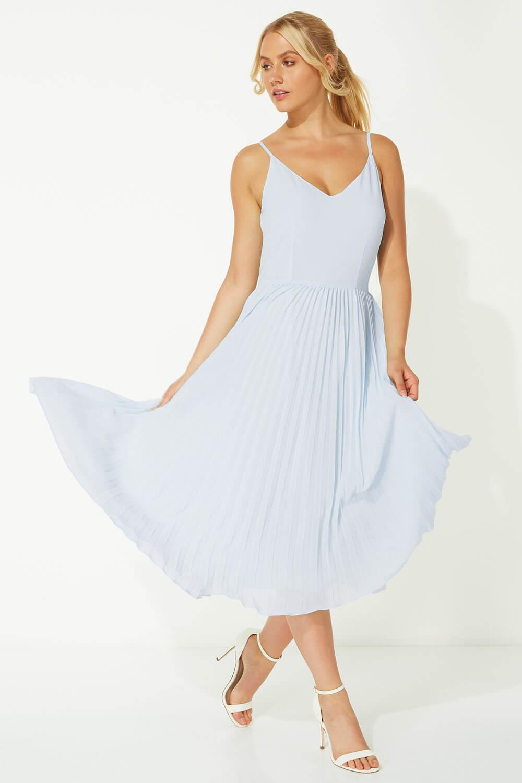 Roman-Originals-Women-Lace-Top-Overlay-Pleated-Dress thumbnail 24