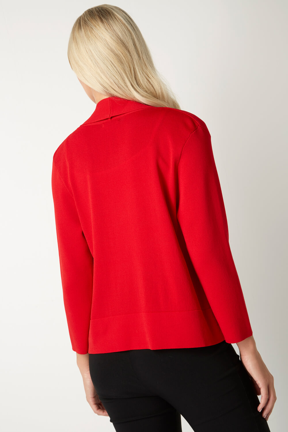 Roman-Originals-Women-039-s-Red-Plain-Shrug-Cardigan-Sizes-10-20 thumbnail 13