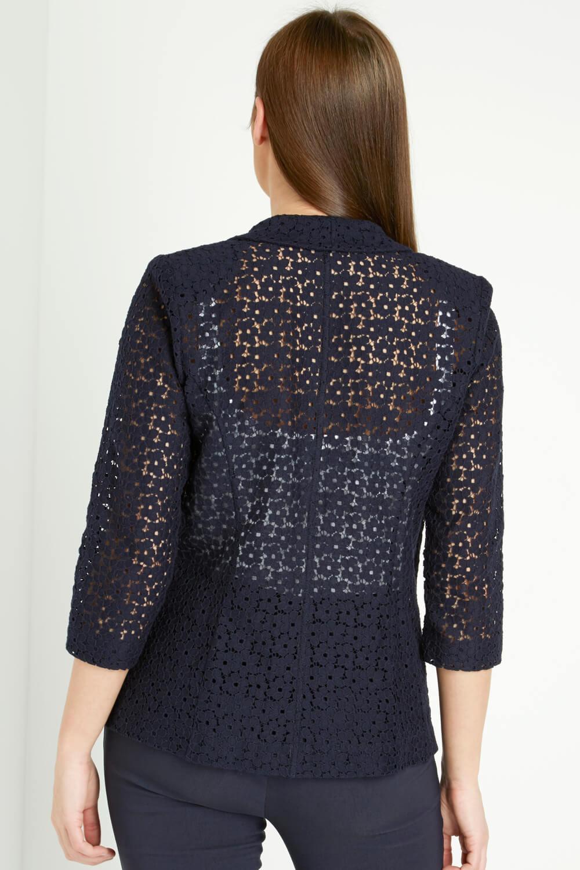 Roman-Originals-Women-039-s-Blue-Floral-Lace-Jacket-Sizes-10-20 thumbnail 21