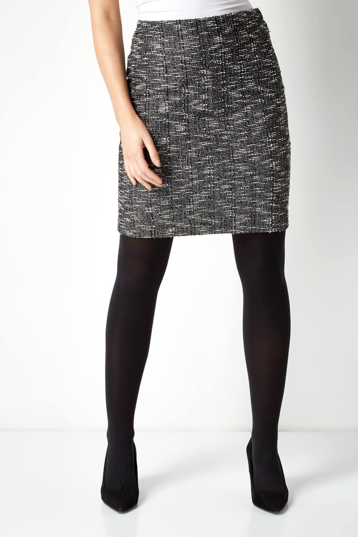 thumbnail 48 - Roman Originals Women's Textured Cotton Mix Jersey Short Skirt Formal Work Wear
