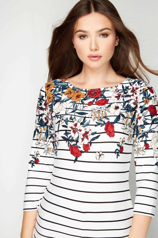 Roman-Originals-Women-039-s-Stripe-Floral-Top-Sizes-10-20 thumbnail 16