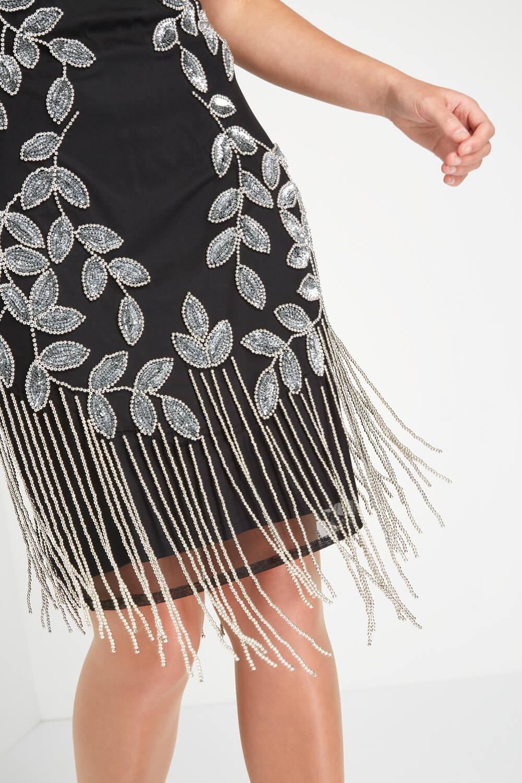 Roman-Originals-Ladies-Embellished-Flapper-Dress-Silver thumbnail 24