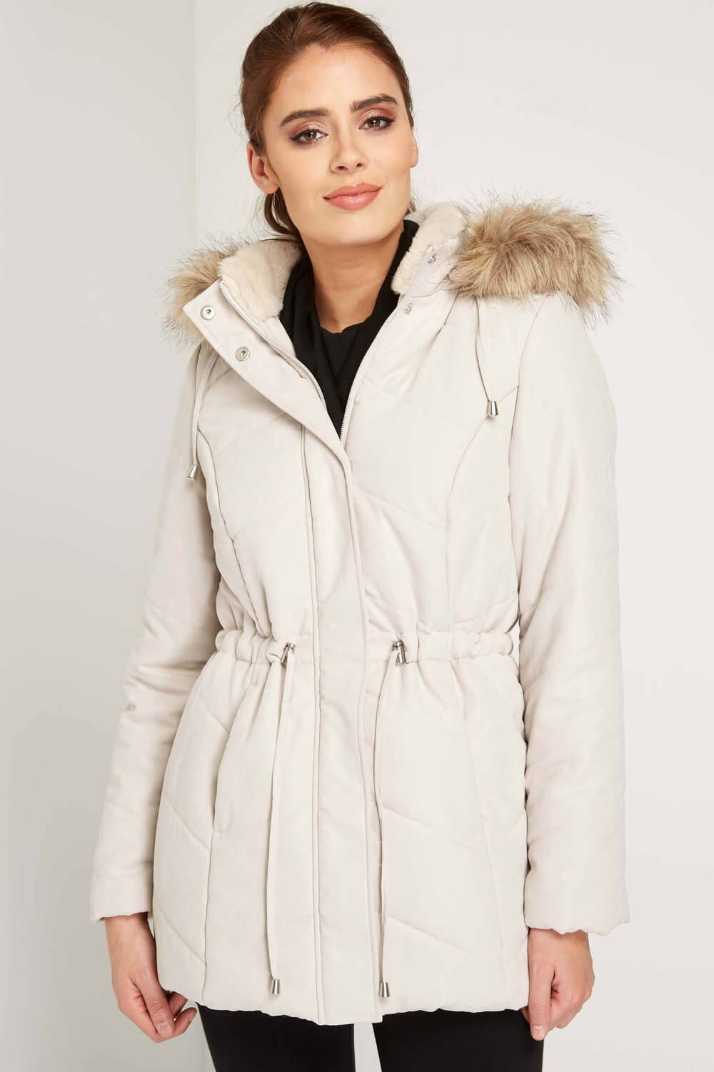 Roman-Originals-Women-039-s-Blue-Quilted-Parka-Coat-with-Hood-Sizes-10-20 thumbnail 28
