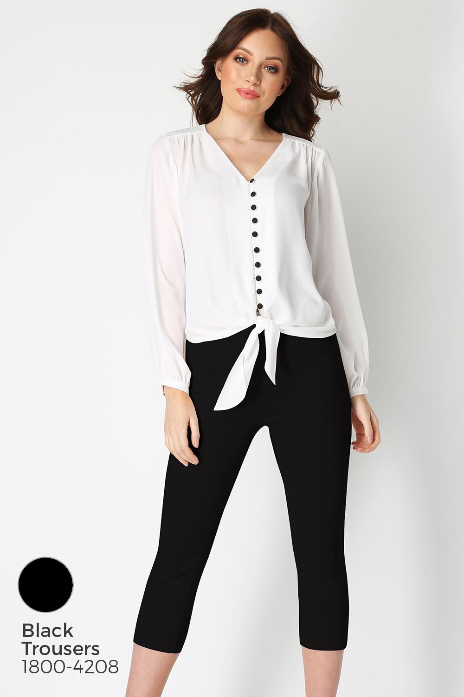 Roman-Originals-Women-039-s-Button-Tie-Front-Blouse-Ladies-Tops thumbnail 41