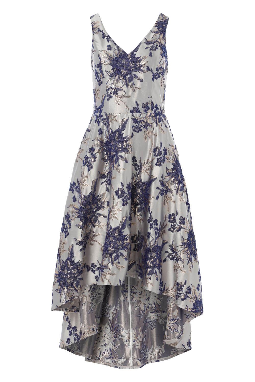 Roman-Originals-Women-Floral-Jacquard-Gown-Dress thumbnail 14