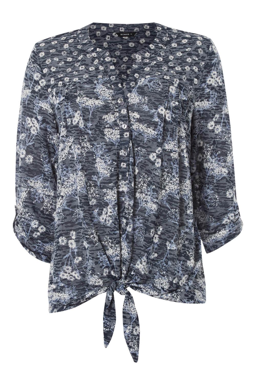 Roman-Originals-Femme-Ditsy-Imprime-Chemise-en-Bleu-marine-Tailles-10-20 miniature 17
