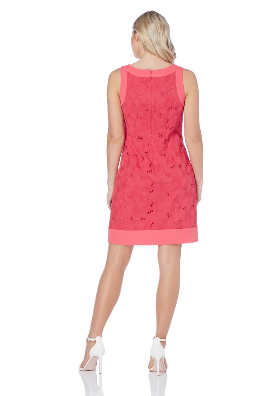 Roman Originals Women's Pink Pink Pink A-Line Floral Embroidered Dress Sizes 10-20 0f0e5c