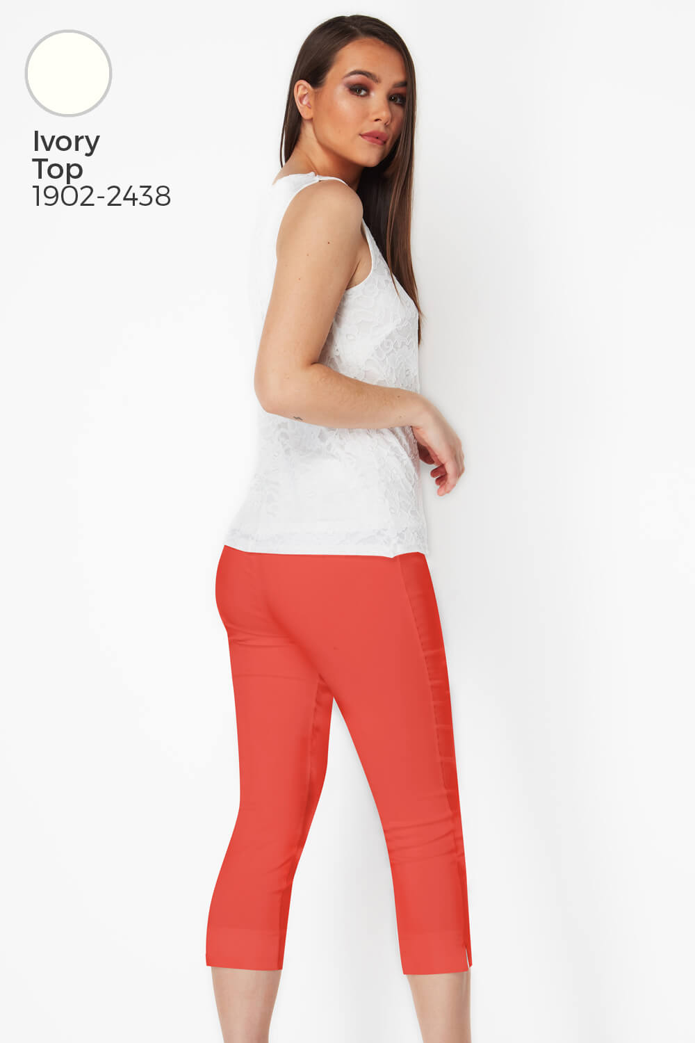 Roman-Originals-Women-Cropped-Stretch-Bengaline-Capri-Trousers-3-4-Thick-Legging 縮圖 178