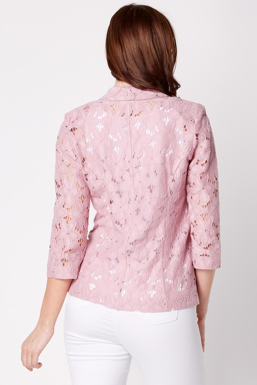 Roman-Originals-Womens-Rose-Pink-Floral-Lace-Jacket-Sizes-10-20 thumbnail 26