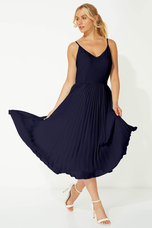 Roman-Originals-Women-Lace-Top-Overlay-Pleated-Dress thumbnail 17