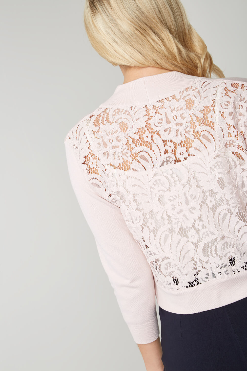 Roman-Originals-Women-039-s-White-Lace-Back-Shrug-Cardigan-Sizes-10-20 thumbnail 35