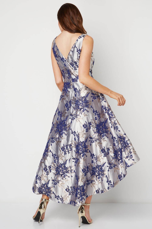 Roman-Originals-Women-Floral-Jacquard-Gown-Dress thumbnail 12
