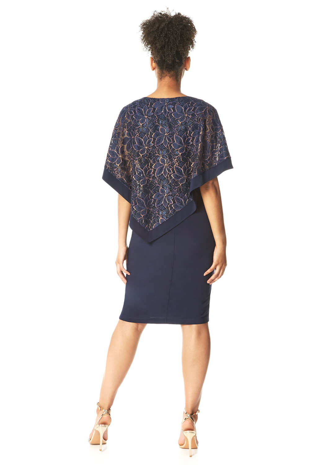 Roman-Originals-Women-039-s-Sequin-Lace-Boat-Neck-Overlay-Knee-Length-Dress thumbnail 29
