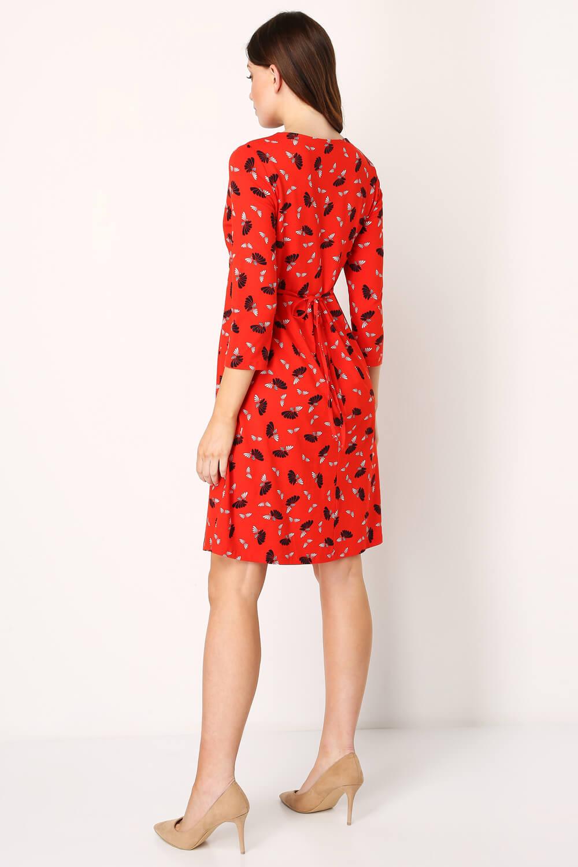 Roman-Originals-Women-039-s-Fan-Print-Shift-Dress thumbnail 18
