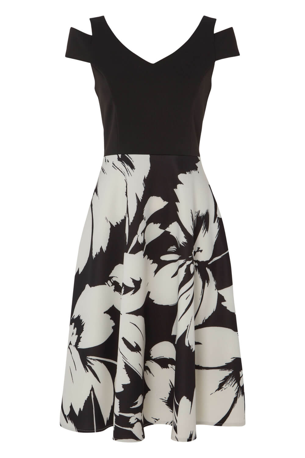 Roman-Originals-Women-039-s-Fit-and-Flare-Floral-Scuba-Dress-Sizes-10-20 thumbnail 10