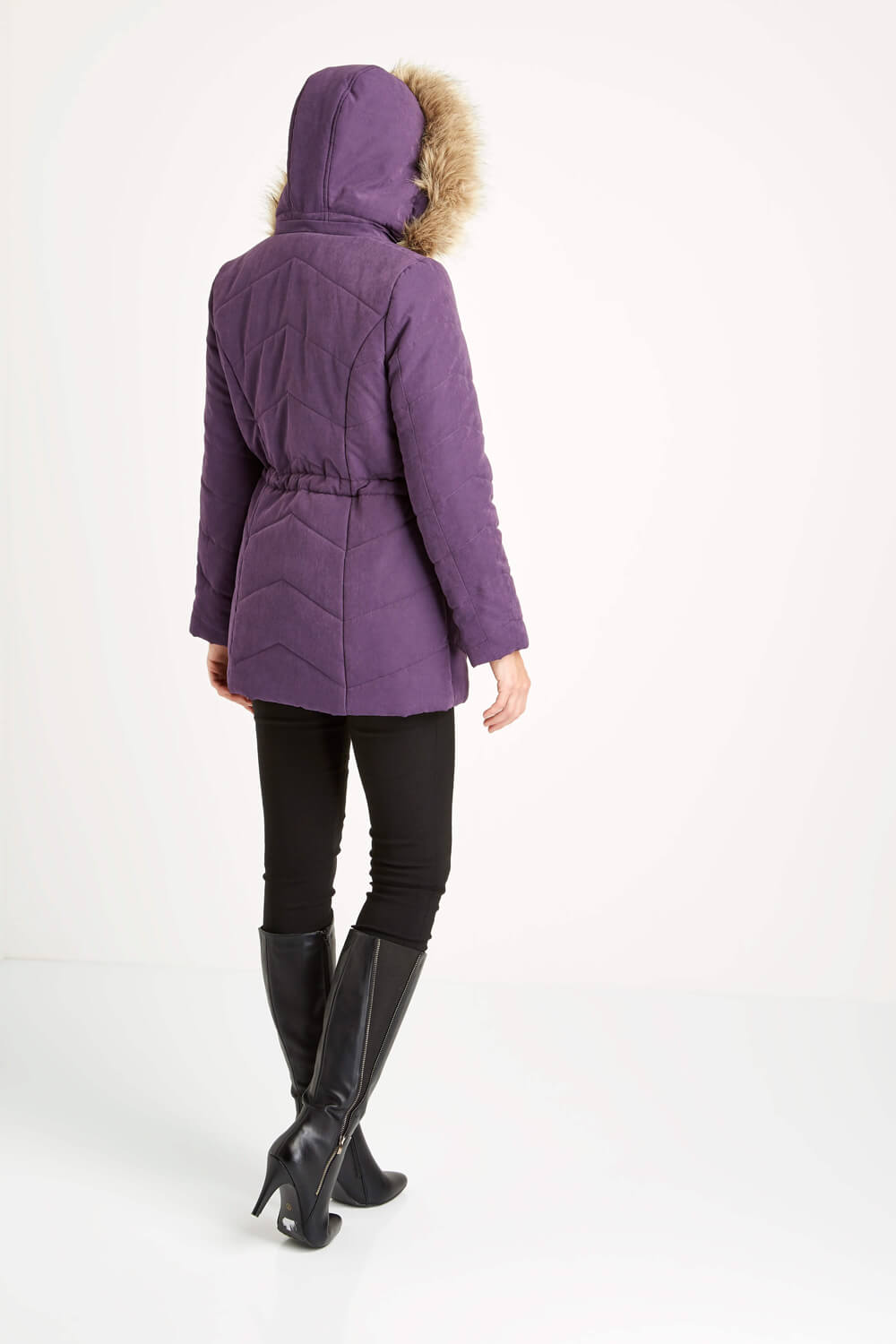 Roman-Originals-Women-039-s-Blue-Quilted-Parka-Coat-with-Hood-Sizes-10-20 thumbnail 22