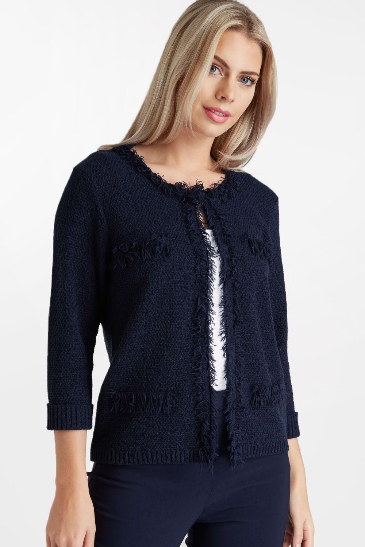 Roman-Originals-Women-039-s-White-Fluffy-Knitted-Cardigan-Sizes-10-20 thumbnail 17