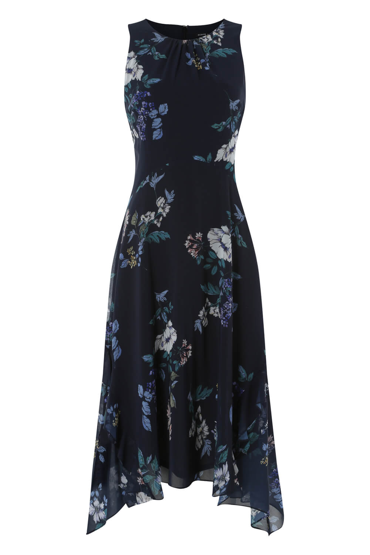 Roman-Originals-Women-Floral-Hanky-Hem-Ruffle-Dress thumbnail 12