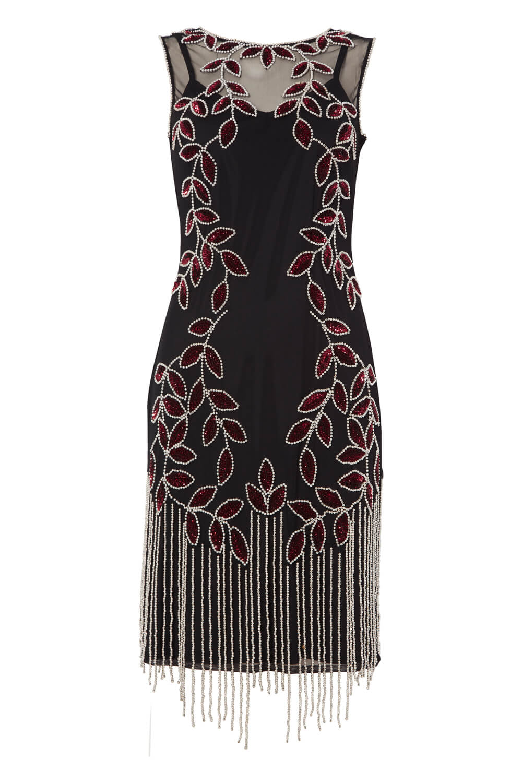 Roman-Originals-Ladies-Embellished-Flapper-Dress-Silver thumbnail 18