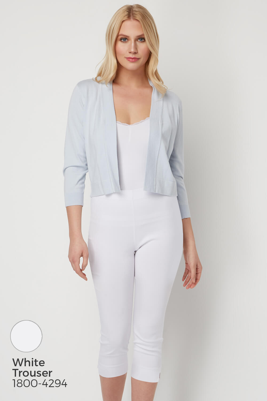 Roman-Originals-Women-Lace-Back-Detail-Shrug-Ladies-Bolero-Jacket thumbnail 22