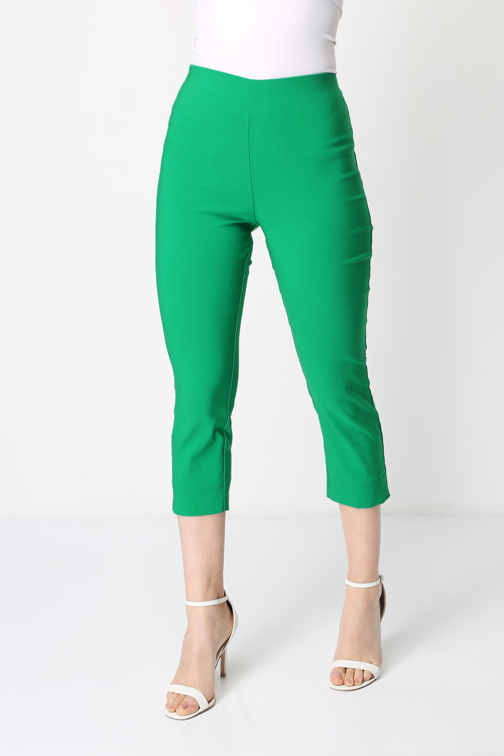 Roman-Originals-Women-Cropped-Stretch-Bengaline-Capri-Trousers-3-4-Thick-Legging 縮圖 245
