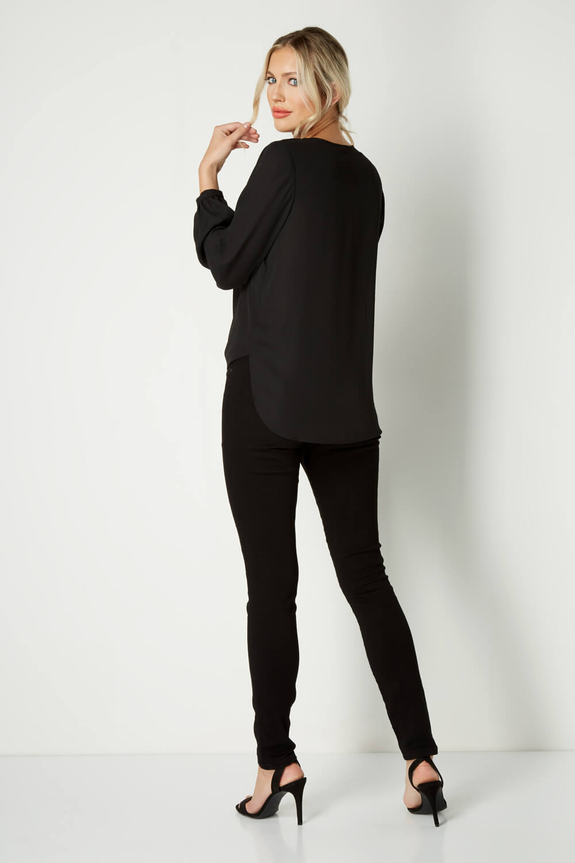 Roman-Originals-Women-039-s-Button-Tie-Front-Blouse-Ladies-Tops thumbnail 15