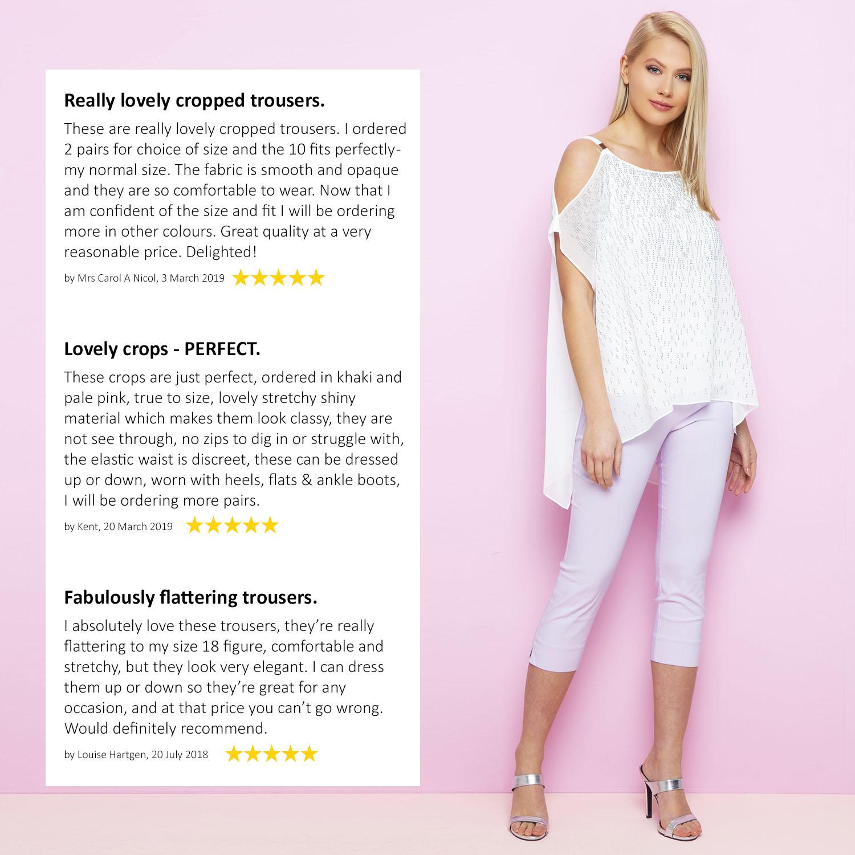 Cropped-Stretch-Capri-Bengaline-Trousers-3-4-Thick-Legging-Women-Roman-Originals 縮圖 279