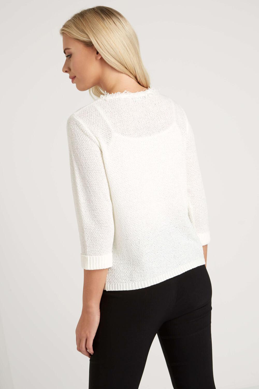 Roman-Originals-Women-039-s-White-Fluffy-Knitted-Cardigan-Sizes-10-20 thumbnail 12