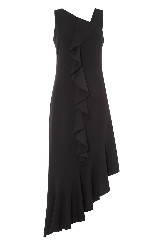 Roman Originals Originals Originals Donna Nero Orlo Asimmetrico Ruffle Dress Tg 10 - 20 aeb541