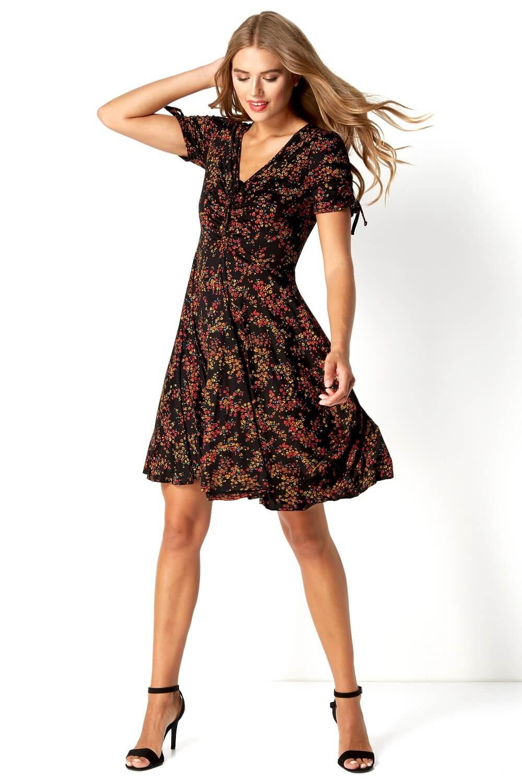 Roman-Originals-Women-039-s-Ditsy-Floral-Dress-Sizes-10-20 thumbnail 13