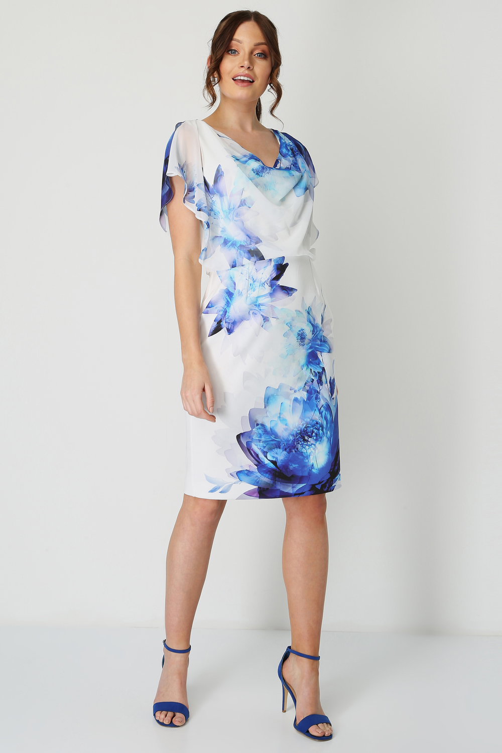 Roman-Originals-Chiffon-Overlay-Scuba-Dress thumbnail 9