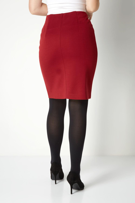 thumbnail 41 - Roman Originals Women's Textured Cotton Mix Jersey Short Skirt Formal Work Wear