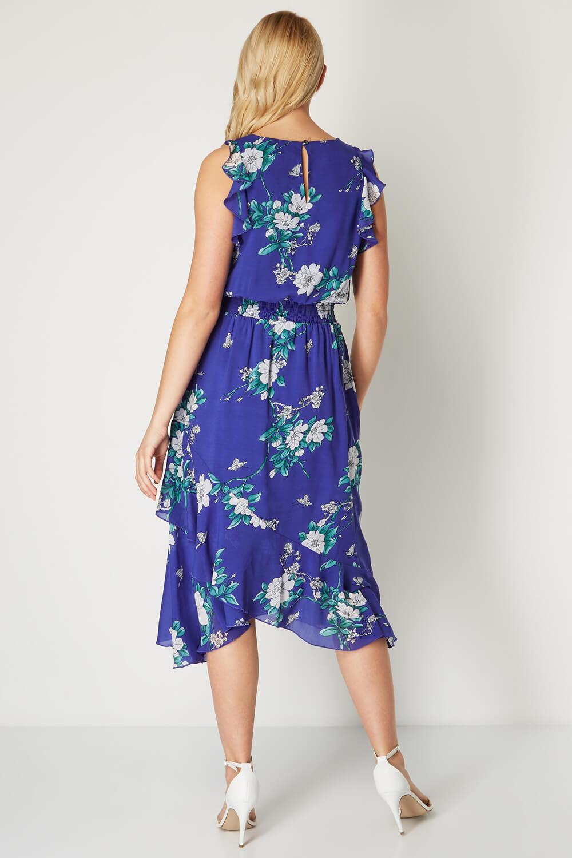 Roman-Originals-Womens-Floral-Ruffle-Dress thumbnail 7