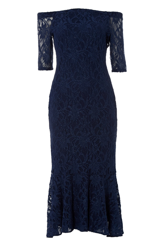 Roman-Originals-Women-039-s-Lace-Flute-Hem-Midi-Dress thumbnail 24
