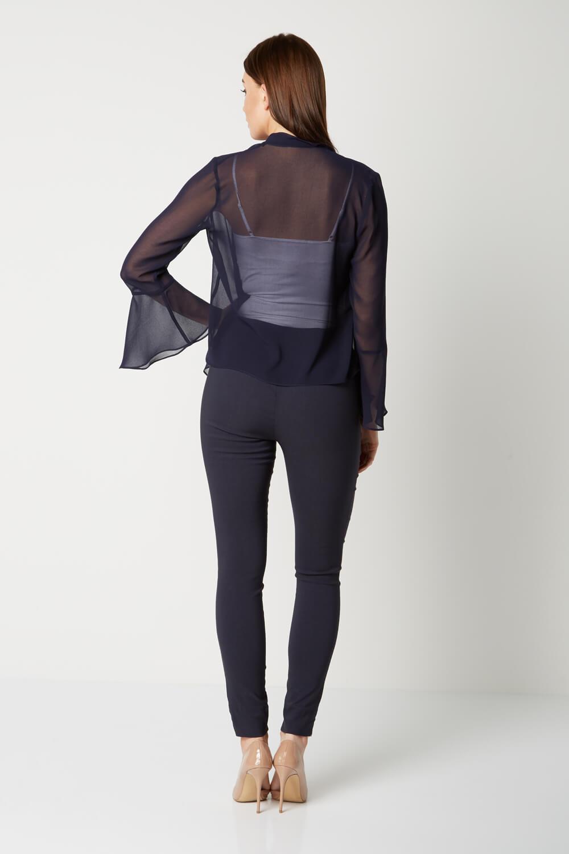 Roman-Originals-Women-039-s-Black-Sheer-Chiffon-Jacket-Sizes-10-20 thumbnail 18