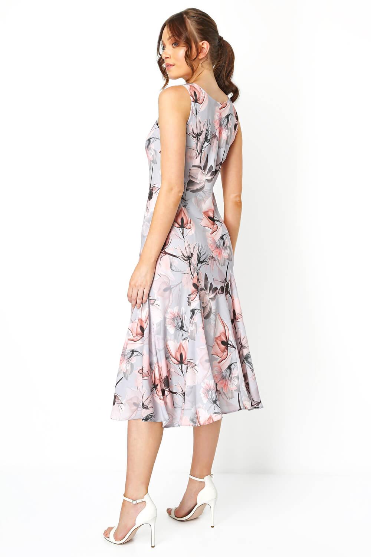 Roman-Originals-Womens-Floral-Bias-Cut-Godet-Dress thumbnail 8